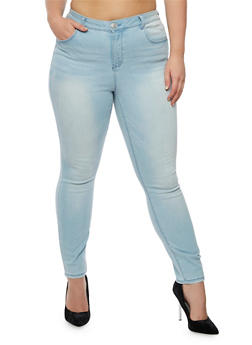 Plus Size Almost Famous Skinny Jeans - 3870015991511
