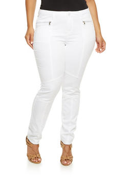 Plus Size Almost Famous Skinny Moto Jeans - 3870015994878