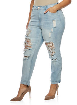 Plus Size Almost Famous Ripped Jeans - 3870015999911