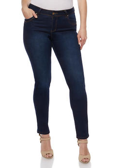 Plus Size Push Up Skinny Jeans - 3870041757950