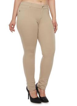 Plus Size Skinny Pants - 3870054214045