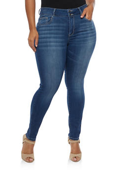 Plus Size Cello 2 Button Skinny Jeans - 3870063151493