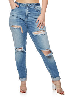 Plus Size Cello Ripped Jeans - 3870063155567