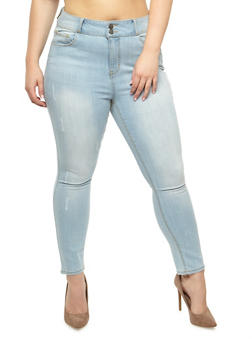 Plus Size Cello 2 Button Skinny Jeans - 3870063157566