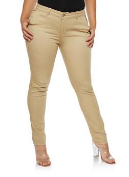 Plus Size VIP Solid Pants - KHAKI #KX - 3870065300449