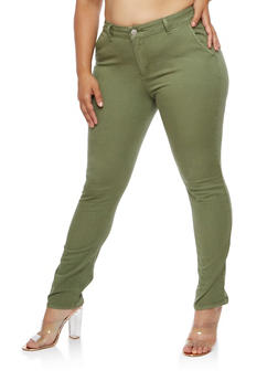 Plus Size VIP Solid Pants - 3870065300449