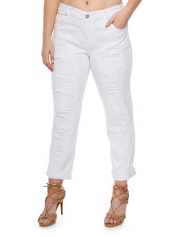 Plus Size VIP Distressed Jeans - 3870065306970
