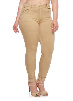 Plus Size VIP Jeans Five Pocket Stretch Skinny Jeans - 3870065307315