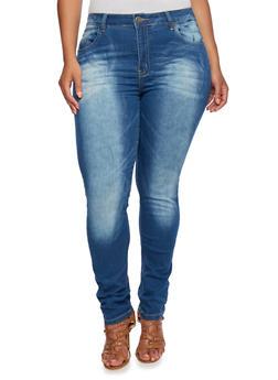 Plus Size VIP Skinny Jeans - 3870065307651