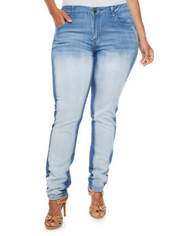 Plus Size VIP Jeans in Distressed Stretch Denim - 3870065307749