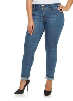 Plus Size VIP Jeans with High Waist and Sculptural Back Pockets - 3870065307850