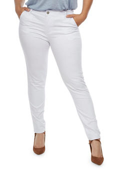 Plus Size VIP Light Wash Skinny Jeans - 3870065308449