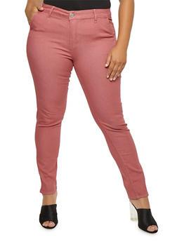 Plus Size VIP Light Wash Skinny Jeans - 3870065308449