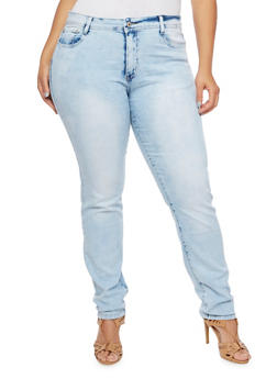 Plus Size Classic Skinny Jeans - 3870067545043
