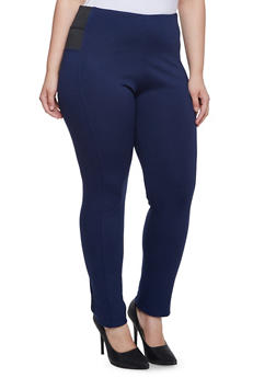 Plus Size Stretch Pants with Stretch Side Panels - 3870068190022