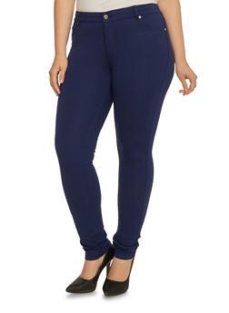 Plus Size Stretch Fit Pants - 3870068190852