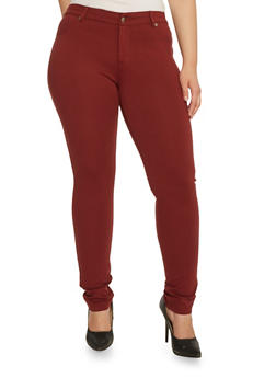 Plus Size Stretch Fit Pants - 3870068190852