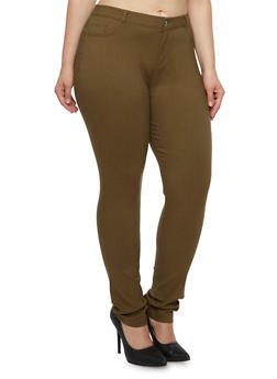Plus Size Skinny Pants in Stretch Twill - 3870068196835