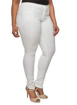 Plus Size Shinestar Skinny Pants - 3870068199654