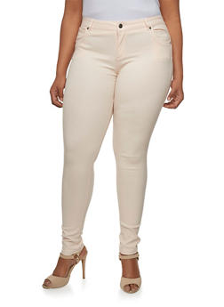 Plus Size Shinestar Stretch Five Pocket Pants - 3870068199678