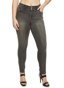 Plus Size Highway Skinny Jeans - 3870071310916