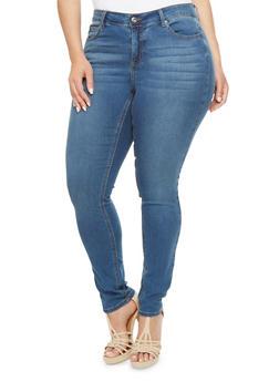 Plus Size WAX Skinny Jeans - 3870071610015