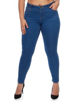 Plus Size Wax Classic Skinny Jeans - 3870071610099