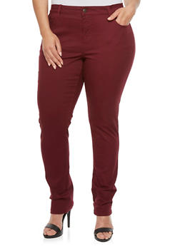 Plus Size WAX Colored Skinny Jeans - 3870071610100