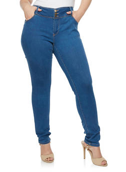 Plus Size WAX Skinny High Waist Jeans - 3870071613400