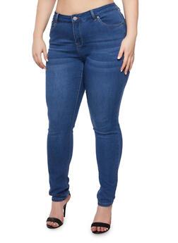 Plus Size WAX Skinny Jeans - 3870071619003