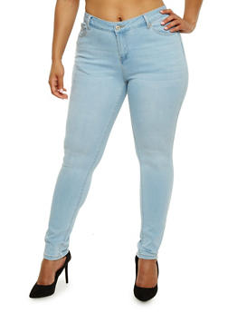Plus Size WAX Stretch Skinny Jeans - 3870071619037