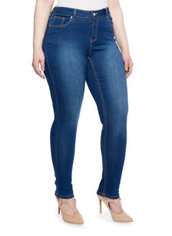 Plus Size WAX Skinny Jeans in Cozy Up Knit - 3870071619140