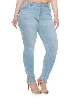 Plus Size WAX High Waisted Skinny Jeans - 3870071619300