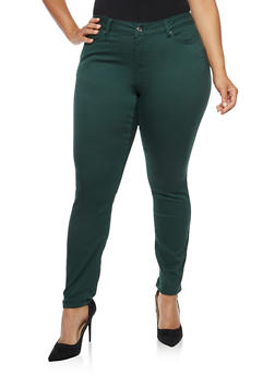 Plus Size WAX Push Up Skinny Jeans - 3870071619310