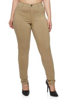 Plus Size Skinny Stretch Pants - 3874060584676