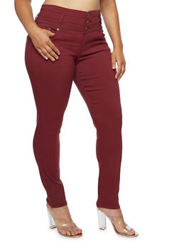 Plus Size High Waisted Stretch Jeans - 3874060584908