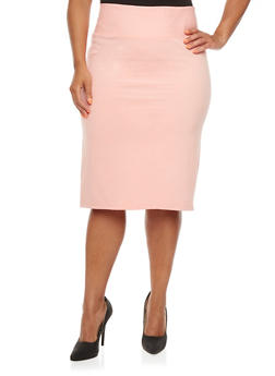 Plus Size Ponte Skirt - 3875069390955