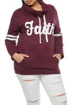 Plus Size Faith Graphic Sweatshirt - 3912033872669
