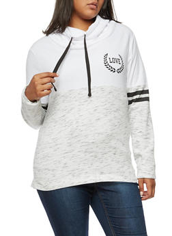 Plus Size Love New York Graphic Hoodie - 3912033877775