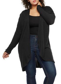 Plus Size Dolman Sleeve Cardigan - 3912038342151