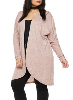 Plus Size Dolman Sleeve Cardigan - 3912038342151