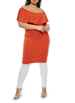 Plus Size Off the Shoulder Maxi Top - 3912038342309