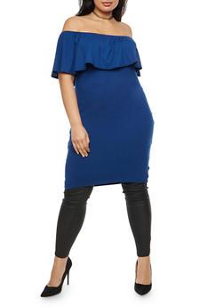Plus Size Off the Shoulder Maxi Top - 3912038342309