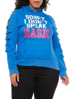 Plus Size Sorry I Dont Speak Basic Sweatshirt - 3912038342510