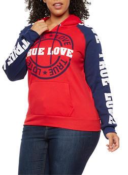 Plus Size True Love Graphic Sweatshirt - 3912038342513