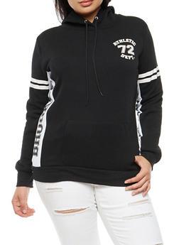 Plus Size Brooklyn Athletic Graphic Hooded Sweatshirt - 3912038342520