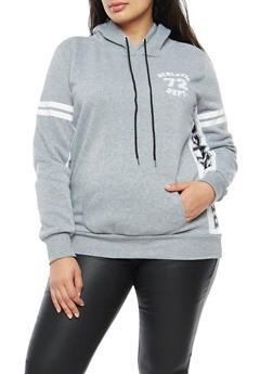 Plus Size Brooklyn Athletic Graphic Hooded Sweatshirt - 3912038342520