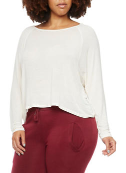 Plus Size Top with Dolman Sleeves - 3912054260098
