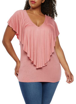 Plus Size Overlay Tank Top - 3912058758786