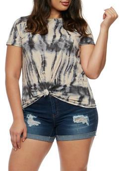Plus Size Tie Dye T Shirt - 3924061359878